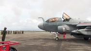 Stock Video Footage of EA-6B Prowler General Rudder Flies in Prowler During Forager Fury II