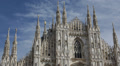 Establishing Shot Milan Cathedral Duomo di Milano Iconic Cathedral Church Italy HD Footage