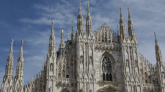 Establishing Shot Milan Cathedral Duomo di Milano Iconic Cathedral Church Italy Stock Footage