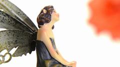 Fairy figurine Stock Footage