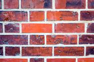 Stock Photo of Detail of a red brickwall