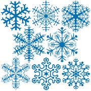 Snowflake Collection - stock illustration