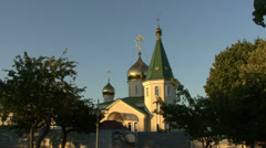 MINSK, BELARUS. The Church Of St. Andrew. Stock Footage