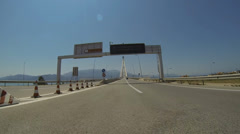 Rio - Antirio Bridge - 2 Times Faster - stock footage