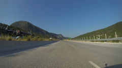 Highway Maintenance Works In Greece Stock Footage