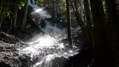 Lively Waterfall In A Forest - stock footage