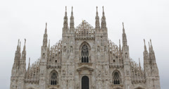 Stock Video Footage of Ultra HD 4K Archbishop of Milan Place Milan Duomo Square Cathedral Italian