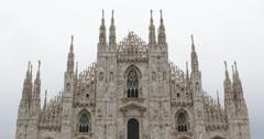 Ultra HD 4K Archbishop of Milan Place Milan Duomo Square Cathedral Italian Stock Footage