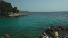 Clear waters on the coast of Krk, Croatia Stock Footage