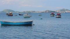 Fishing Boats at Sea, Rio de Janeiro Stock Footage