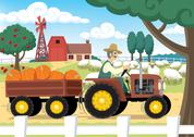 Stock Illustration of Farm