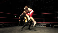 Stock Video Footage of Pro Wrestling Move: Fisherman's Suplex