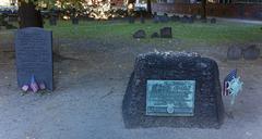 Granary Burial Ground, Boston, Massachusetts - stock photo