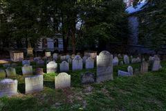 Kings Chapel Burial Ground, Boston, Massachusetts - stock photo