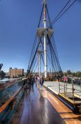 USS Constitution in Boston Harbor, Massachusetts - stock photo