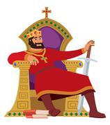 Happy King On White - stock illustration