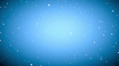 Christmas gentle snow fall  - seamless loop, HD, on bright blue background - stock footage