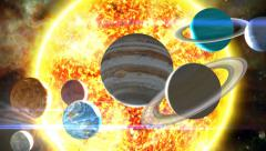 Planets of the Solar System - stock footage
