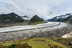 The great Aletsch glacier - stock photo