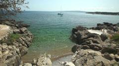 Coast of island Krk, Croatia Stock Footage