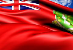flag of british virgin islands - stock illustration