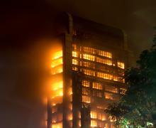 15/12/2013 Guangzhoussa Kiinassa rakennus tulessa / iso tulipalot / uutiset Kuvituskuvat