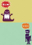 Monster Backgrounds 3 - stock illustration