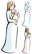 Mother and Child Stock Illustration