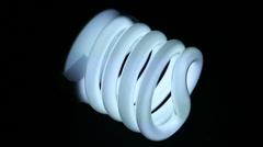 Energy saving lamp Stock Footage