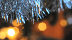 Closeup on ornament in a christmas tree Stock Footage