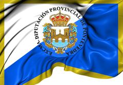 Flag of pontevedra province Stock Illustration