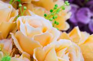 Stock Photo of yellow fabric roses