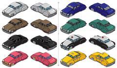 Retro Cars - stock illustration