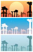 Ruins Stock Illustration