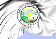 state seal of alaska - stock illustration