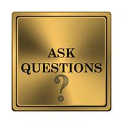 Ask questions icon Stock Illustration