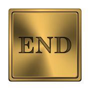 end icon - stock illustration