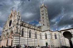 the cathedral of siena - stock photo