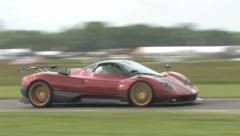 Pagani Zonda F on track Stock Footage