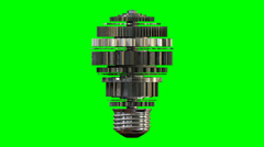 Cogwheel lightbulb rotating GS flat Stock Footage