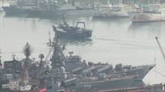 Ships in Vladivostok Stock Footage