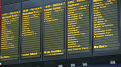 Liverpool lime street railway station train departure notice board Stock Footage