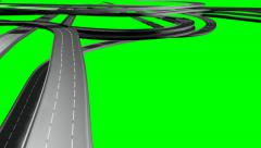 Roads build in closeop low GS Stock Footage