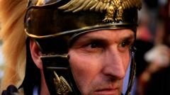 Roman army 94# Stock Footage