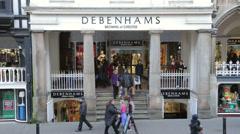 Debenhams department retail store, eastgate street, chester Stock Footage
