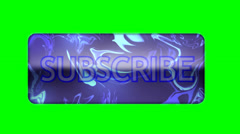 Subscribe Button No Shadow - Green Screen - HD - stock footage
