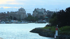 Laurel Point on Victoria Waterfront Stock Footage