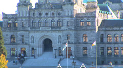 The British Columbia Legislature Building - stock footage