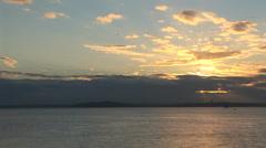 Cruise at Sunset With Parasailer Stock Footage