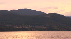 British Columbia Ocean Shore at Sunset Stock Footage